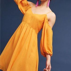 Anthropologie Carina Open Shoulder Dress